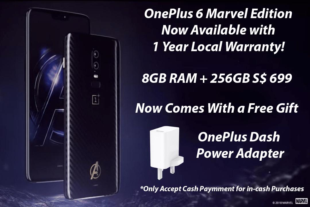 Oneplus 6 Marvel Edition Price Banner